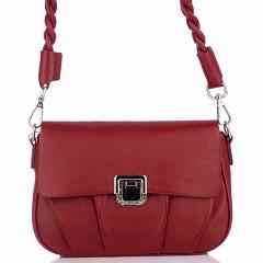 "5550 wine red, женская кожаная сумка ""Кросс-боди"" Barcelo Biagi"