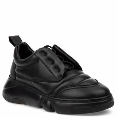 20203-2-2 black, женские кожаные кроссовки, Barcelo Biagi