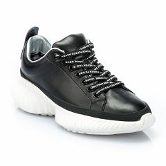 XH129-2 black, женские кожаные кроссовки, Barcelo Biagi