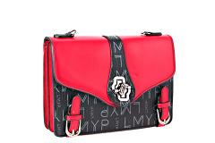 6043 gules Красно - чёрный, сумки Barcelo Biagi женская сумка-сэтчел из экокожи (иск.)