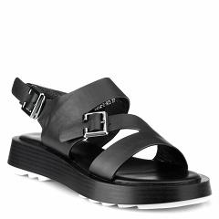 D202-2-N73 black, женские кожаные сандалии, Barcelo Biagi