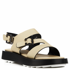 D202-2-Y13 greenХаки, женские кожаные сандалии, Barcelo Biagi