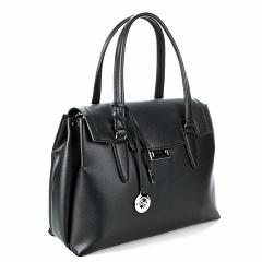 "D1856-3 (BB) black Barcelo Biagi женская кожаная сумка ""тоут"""