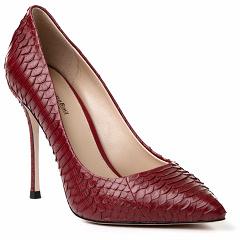 H103-1-140 (BB) питон красный Barcelo Biagi женские туфли из кожи питона